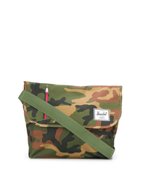 Besace en toile camouflage olive