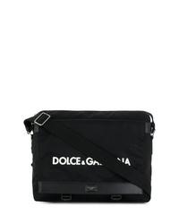 Besace en toile noire Dolce & Gabbana
