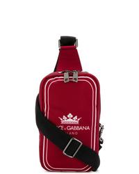 Besace en toile rouge Dolce & Gabbana