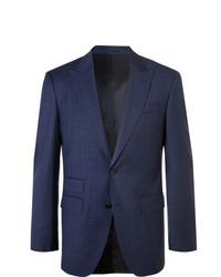 Blazer à carreaux bleu marine Hugo Boss