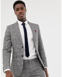 Blazer à carreaux gris Burton Menswear