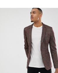 Blazer à carreaux marron ASOS DESIGN