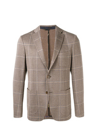 Blazer à carreaux marron Etro