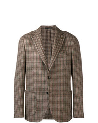 Blazer à carreaux marron Lardini