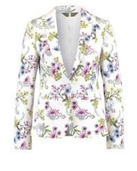 Blazer à fleurs blanc Dorothy Perkins