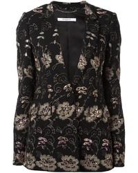 Blazer à fleurs noir Givenchy