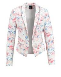 Blazer à fleurs rose Even&Odd
