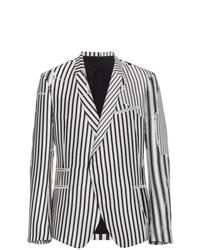 Blazer à rayures verticales blanc et noir Haider Ackermann