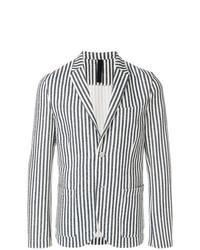 Blazer à rayures verticales blanc et noir Harris Wharf London
