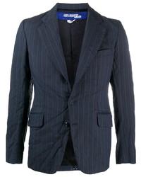 Blazer à rayures verticales bleu marine Junya Watanabe MAN