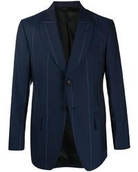 Blazer à rayures verticales bleu marine Lanvin