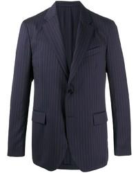 Blazer à rayures verticales bleu marine Versace