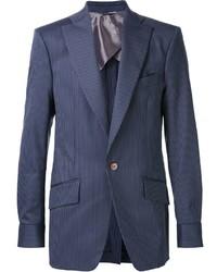 Blazer à rayures verticales bleu marine Vivienne Westwood