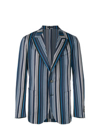 Blazer à rayures verticales bleu Gabriele Pasini