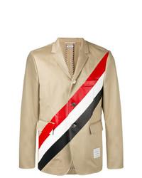 Blazer à rayures verticales brun clair Thom Browne