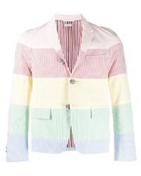 Blazer à rayures verticales multicolore Thom Browne