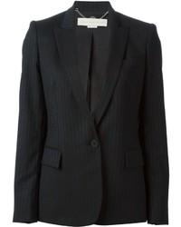 Blazer à rayures verticales noir Stella McCartney