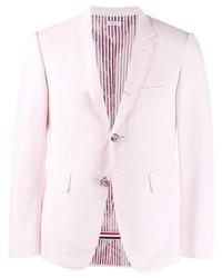 Blazer à rayures verticales rose Thom Browne
