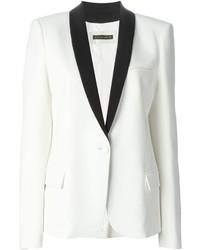 Blazer blanc et noir Plein Sud Jeans