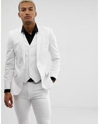 Blazer blanc ASOS DESIGN