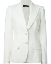 Blazer blanc Dolce & Gabbana