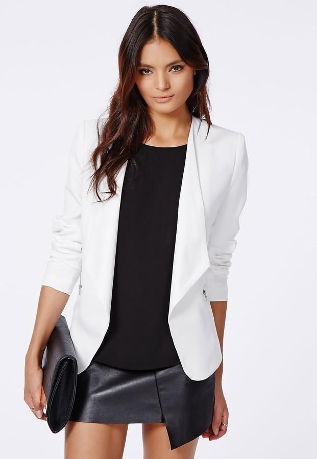 blazer blanc hee grand femme blazer vest tailleur blanc. Black Bedroom Furniture Sets. Home Design Ideas