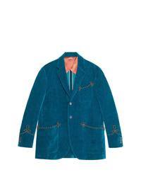 Blazer bleu Gucci