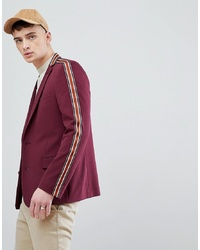 Blazer bordeaux ASOS DESIGN