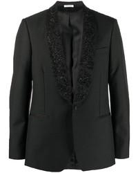 Blazer brodé noir Alexander McQueen