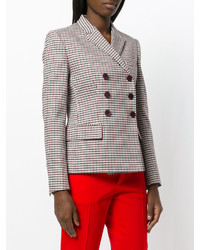 Blazer croisé à carreaux marron clair Stella McCartney