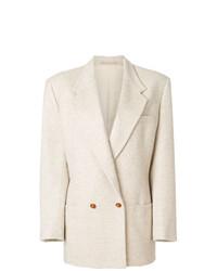 Blazer croisé beige Versace Vintage