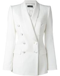 Blazer croisé blanc Dolce & Gabbana