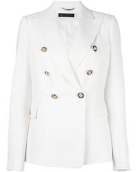 Blazer croisé blanc Versace