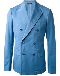 Blazer croisé bleu clair