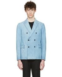 Blazer croisé bleu clair Valentino