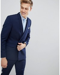 Blazer croisé bleu marine Burton Menswear