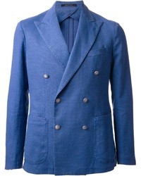 Blazer croisé bleu