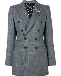 Blazer croisé écossais gris Dolce & Gabbana