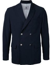 Blazer croisé en coton bleu marine Kent & Curwen