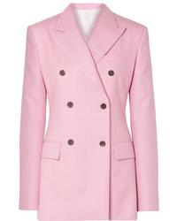 Blazer croisé en laine à carreaux rose Calvin Klein 205W39nyc