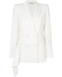 Blazer croisé en laine blanc Alexander McQueen