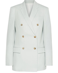 Blazer croisé en laine bleu clair Calvin Klein 205W39nyc