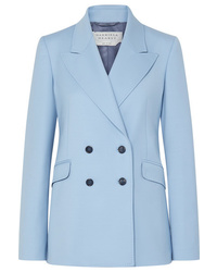 Blazer croisé en laine bleu clair Gabriela Hearst