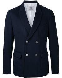 Blazer croisé en laine bleu marine Kent & Curwen