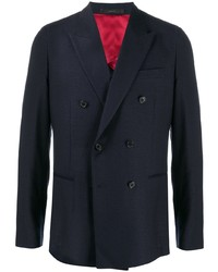 Blazer croisé en laine bleu marine Paul Smith