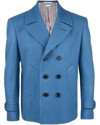 Blazer croisé en laine bleu