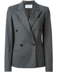 Blazer croisé en laine gris foncé