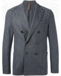 Blazer croisé en laine gris foncé Eleventy