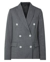 Blazer croisé en laine gris foncé Golden Goose Deluxe Brand