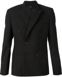 Blazer croisé en laine noir Calvin Klein